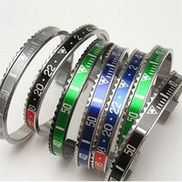 BC Jewelry Brazaletes Pulseras Vintage Plated Bangle Bracelet for Men Stainless Steel Cuff Speedometer Bracelet wholesale BC-127 793 Q2