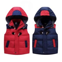 Kids Winter Clothes Down Jacket Vests For Toddler Children's Warm Vest Boys Girls Thicken Baby Outfits Outwear Big Size Designer Waistcoat
