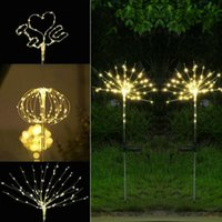 Solar Lamps Outdoor Lamp LED Light Waterproof Garden Decor Powered Holiday Decoration 90 120 150