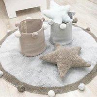 Tappeto rotondo nordico tappeto morbido tappeto da pavimento morbido tappeto per bambini per bambini Bambini da camera da letto Play Gym Carpet Home Decor Tappeti