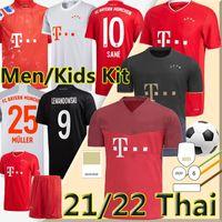 NEU 21/22 Bayern München Trikot des Fußballs  Sane Lewandowski Coman Gnabry Davies Müller 2020 2021 Bayern munich Soccer Jersey Männer Kinder Kits Jersey Trikots für Fußball