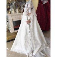 Wraps & Jackets 2021 Bridal Shawl Long Satin Wedding Cloak Jacket Coat Accessories