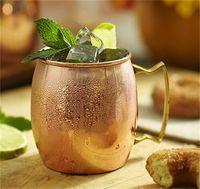 12 pcs caneca de mula de moscow caneca de cobre martelado de aço inoxidável para cerveja gelo café chapeamento de chá martelado coquetel copos 409 v2