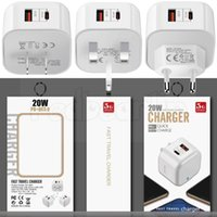Fast Quick Charging Type c PD USB-C 20W Eu US UK Wall Charger Power Adapters For Iphone 7 8 11 Samsung s20 s21 Htc With Box