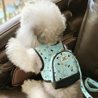 Cat Collars & Leads Luxury Pull Bag Dogs Collar And Harnesses With Leash Set Pet Running Lead Safety Fashion Small Medium Backpack School Ba