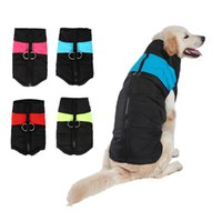 Large size 3XL-7XL Dog clothes Autumn Winter Warm Waistcoat pet dog clothes fashion jacke Coats with Leashes Rings puppy clothes