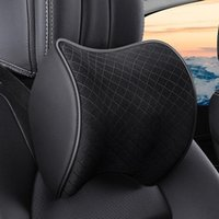 Seat Cushions Car Head Support Protector Automobiles Neck Rest Memory Cotton For Office Backrest Mesh Pillow And Waist Pad