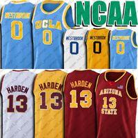 Arizona State Sun Devils James 13 Harden Jersey NCAA UCLA Russell 0 Westbrook Jerseys Reggie 31 Miller Jersey
