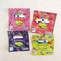 Nerds Halat Isırıklar Çanta Kare Sakızlı Tüfek Skittles Gökkuşağı Boş Trolli Trilli Warheads Airheads Mylar Çanta Ambalaj 400 mg 408mg