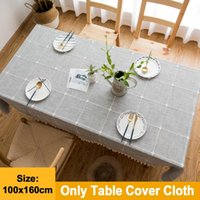 Table Cloth Tassel Tablecloth Cover Rectangle Home Decoration Dining Room Square Stitching Cotton Linen Dust Proof El Office