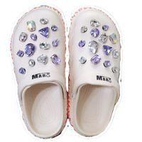 28 unids agujero encantos hebilla cristal joyería de diamante piedras preciosas para Croc Jibz como zapatos Accesorios Adornos