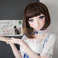 Máscaras de festa (MSM01) feito sob encomenda feitos artesanais resina feminina crossdress bonito menina 3/4 cabeça lolita máscara cosplay kigurumi crossdresser boneca