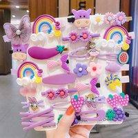 Kinder Haarnadeln Mädchen Korea Nette Prinzessin Blumen Juvenile Side Clip Pony 14-teilig Set von kleinen Clips