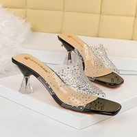 Luxury designer Women Sandals Super high heels summer fashion 6cm wedge leather high-heeled shoes thick heel hollow slipper sexy large shoe 34-40
