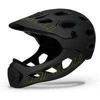 Ultralight Cross-Country Kask Dağ Bisiklet Kaskları Adam Tam Kapalı MTB Aşağı Tepe Tam Yüz Kask Inte-Kalıplı BMX Bisiklet Kask