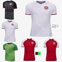 2021 2022 Dinamarca Jersey 21 22 Dinamarca Camisetas Eriksen Hojbjerg Yussuf Christensen Home Away National Men Futebol Camisa Goleiro