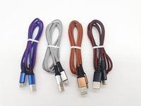2.4a USB da digitare i cavi C Cavi Cavi Cavi intrecciati Tessuto Tessuto Thread Thy-Type-C Cavo di ricarica rapida Cavo di cavo tramite DHL 100+
