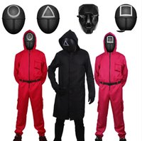Squid Game Gym Clothing Villain Red Sumpsuit Halloween Cosplay Party Fiesta con máscaras