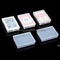Bins Housekee Organization Home & Gardentransparent Plastic Boxes Playing Cards Container Pp Storage Case Packing Poker Game Card Box Hwf763