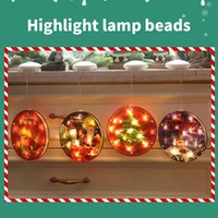 Christmas Round Led Light Hanging Decoration Room Curtain Xmas Tree Ornaments New Year Mall Window Home Decor