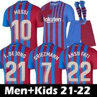 21 22 Barcelona soccer jersey 2021 2022 Barcelona football shirt men and kids top quality MESSI GRIEZMANN DE JONG ANSU FATI KUN AGUERO