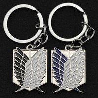 Attack On Titan Keychain Wings of Liberty Freedom Scouting Legion Eren Keyring Key Holder Chain Ring New Anime Jewelry Wholesale 210409