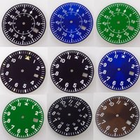 Repair Tools & Kits 33.6mm Watch Dial Spare Parts Fit For NH35 NH35A Automatic Movement Green Lume Black Blue Green Color