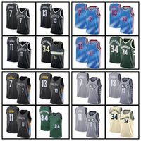 "Brooklyn ""Nets"" Jersey Basketball Kevin 7 Durant 13 Harden 11 Irving Mens Milwaukee ""Bucks"" Giannis 34 Antetokounmpo Jerseys"