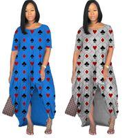 2021 Новый Модный Распечатать О-Шеи Maxi Платье Женщин Плюс Размер Платье без рукавов