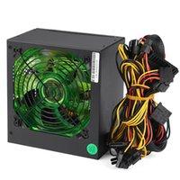 Cargador 700W 12 cm Silent LED PC Fuente de alimentación ATX-Computer PSU SATA ATX PCI 24 PIN