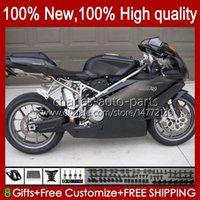 Motorrad-Karosserie für Ducati 749s 999s 749 999 2003 2004 2005 2006 Body Kit 27No.97 749-999 749 999 S R Alle Wohnung BLK 03 04 05 06 Cowling 749R 999R 2003-2006 OEM-Verkleidung