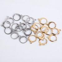 20 stks / partij 14x12mm roestvrij staal DIY Franse oorbel haken draadinstellingen base hoepels oorbellen accessoires voor sieraden maken