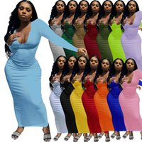 Дизайнеры платье макси длинные платья для женщин U-образные выжимание трикотажные без рукавов длинные Bodycon сексуальные черные белые две части набор клуб носить юбку