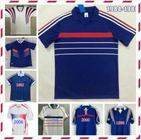 1982 1996 1998 2000 2002 2004 2010 Francia Zidane Retro Soccer Jersey Henry Uniforms Maillot de Foot Maillots Camisa de Fútbol
