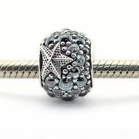 Authentic 925 Sterling Silver Beads Oceanic Starfish Charm Fits Pandora Bracelets Beads Wholesale 2016 summer
