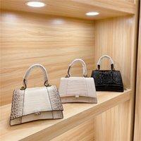 Designer SS Senhoras Moda Alligator Crossbody Bag Bolsas de Crocodilo Padrão de Crocodilo Único Sacos de Ampulheta Dourado Sacos de Bolsa Mulheres Bolsa de Embreagem De Embreagem Totes
