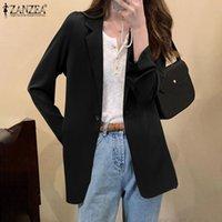 Women's Suits & Blazers Elegant Women Long Sleeve Solid Blazer Autumn Lapel Neck Loose OL Jackets 2021 ZANZEA Stylish Casual Outwear Office