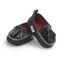 First Walkers Scottish Style Manual Sewing Baby Shoes Infant Soft Sole PU Leather Crib Brand Prewalkers Fringe
