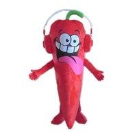 Hohe Qualität Rot Chili Maskottchen Kostüme Halloween Phantasie Party Kleid Cartoon Charakter Karneval Weihnachten Ostern Werbung Geburtstag Party Kostüm Outfit