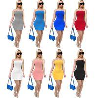 Sommer Frauen Casual Midi-Kleider Lange Maxi-Kleid Crop Top BandeAutight High Street Sexy Club Bodycon Bleistift Rock 832
