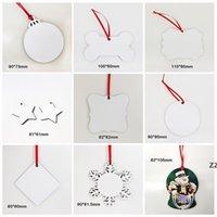 Sublimation Blank Noël Ornement de Noël Double face Arbre de Noël Pendentif Multi Shape Talk Tag Étiquette Décoration Craft HWA8197