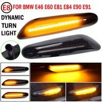 2 шт. Светодиодный динамический боковой маркер поворотный сигнал световой индикатор светильника светильника для BMW E90 E91 E92 E93 E60 E87 E82 E46