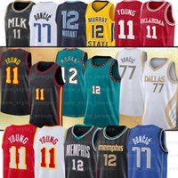 11 TRAE 77 LUKA 12 JA Young Morant Doncic Basketball Jerseys NCAA College Jersey
