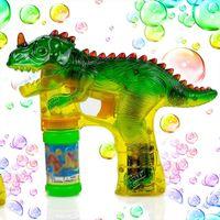 공룡 거품 총 사수 전기 조명 LED 깜박이 송풍기 블래스터 만화 쥬라기 공룡 장난감 거품 기계