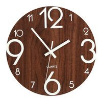 Wall Clocks Wooden Clock Quartz Needle Luminous Number Quiet Dark Glowing Modern Hanging Watches Bedroom Living Room Decoration
