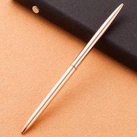 أقلام حبر جاف الجودة الفاخرة الإبداعية المعادن القلم 1.0 ملليمتر سليم لفة الكرة الأعمال ل مكتب الكتابة الهدايا الكورية القرطاسية