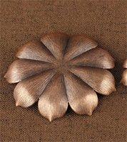 Tütsü Brülör Reflü Çubuk Tütsü Tutucu Ev Budizm Dekorasyon Bobin Buhurluk Lotus Çiçek Şekli Bronz / Bakır Zen Budd 502 V2