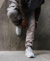 Pantalones de la niebla de los años 19s Miedo a Dios Essentials Carta Bordado Bordado High Street Sweatpants 3M Reflectante Vintage Color Moda Deporte al aire libre Fitness