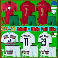 Men +kids kit 2021 Portugues RONALDO soccer jersey 21 - 22 JOAO FELIX DIOGO J BERNARDO FERNANDES national team football shirt