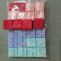 Bague de mode Boucles d'oreilles Bracelet Boîtes de bijoux Boîtes d'amant cadeau Wrap Favor de mariage sac d'emballage Porte-cas Cadeaux de Noël ZJ-T11